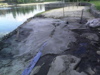 восстановление пляжа
