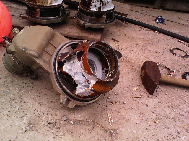Защита мотопомпы от износа абразивом